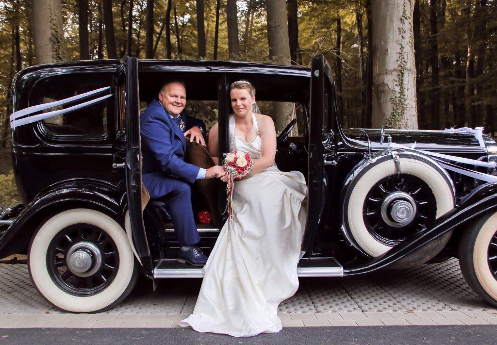 Hochzeitsfotografie im Oldtimer